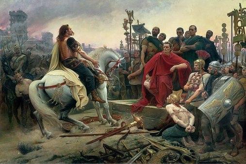 Vercingétorix jette ses armes aux pieds de César, 1899, Lionel Royer