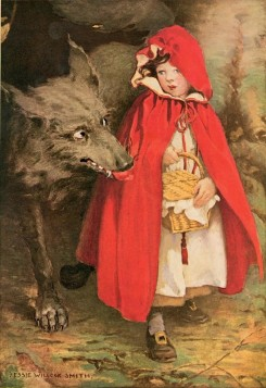 Le Chaperon Rouge, illustration de Jessie Wilcox Smith