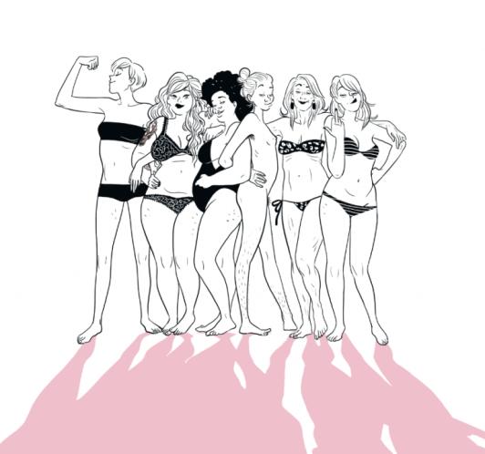 Extrait de Libres ! / image provenant du site officiel de l'illustratrice Diglee