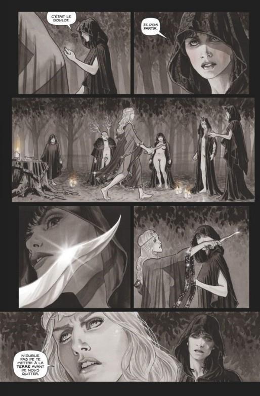Extrait de Black Magick, Réveil, Glénat Comics, Greg Rucka et Nicola Scott