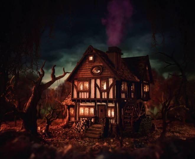 La maison (comestibles) des sorcières de Hocus Pocus par Christine McConnell - Instagram et Facebook