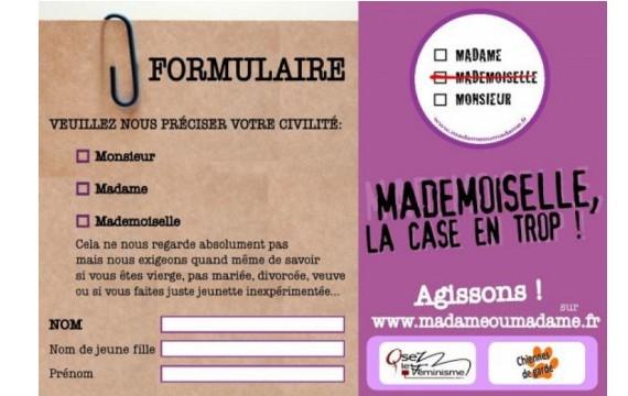 Campagne Mademoiselle La case en trop Osez le féminisme Chiennes de Garde