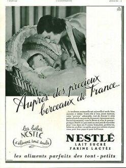 Publicité Nestlé 1940