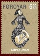 Faroese stamp Kopakonan