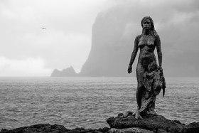 Selkie statue Mikladalur